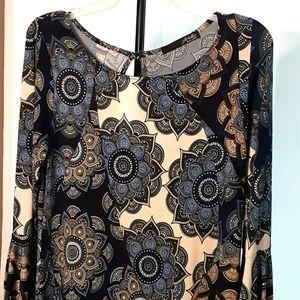 Womens Casual Dress Tunic ARIELLA Bell Sleeves